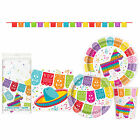 Mexican Fiesta Disposable Plates Napkins Tablecloth Party