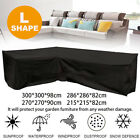 L Shape Outdoor Furniture Cover Waterproof Sofa Lounge Seat Couch Cover Garden