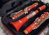 More images of Vito Dazzler Red Bb Standard Clarinet Reso-tone 3 Woodwind with Hardcase Japan