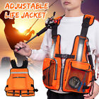 US Adult Adjustable Fishing Vest Life Jackets For Kayak Reflective Sailing Kayak