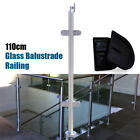 Stainless Steel Balustrade Railing Post Grade Glass Clamps Fencing Home 110cm