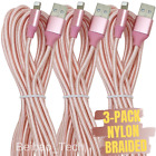 3Pack 10ft Fast Charger Cable USB Charging Cord For Apple iPhone 12 11 XR 8 7 6