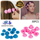 20/30pcs Magic Silicone Hair Curler Rollers Farmers No clip Styling Curling Tool