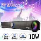 Computer PC Speakers Desktop HiFi Stereo Sound Effect Heavy Bass Subwoofer Gift