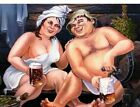 Diamond Painting Couple Drinking Beer Cute Embroidery Design Portrait Decoration