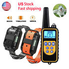 Rechargeable Remote Dog Training Shock Collar Waterproof Electric Trainer LCD US