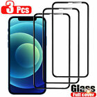 For iPhone 11 12 Pro Max XS XR X Full Coverage Tempered Glass Screen Protector