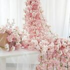 2.3m Artifical Cherry Rattan Fake Flowers Ivy Hanging Garland Plant Home Decor