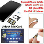 Newest UNLOCK Chip for iPhone X XS 8 7 Plus Unlocking Sim Card ICCID IOS 14.4