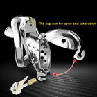 quality PC Male Chastity Cage Men's Double Locks Belt Restraint Openable Device