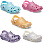 Crocs Classic Glitter Clogs Kids Childrens Girls Summer Beach Comfort Sandals