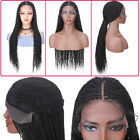 Braided Lace Wig Synthetic Spring Twisted Braided Wigs Goddess Ditch Hairpiece