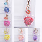 Pendant Key Chain Heart Transparent Sequin Rose Flower Accessories Gifts ca