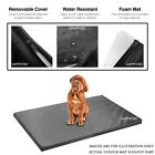 BLACK Waterproof Dog Cage Mat Pet Dog Cat Bed Pad Washable Cover FR APPROVED