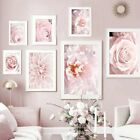 Pink+Flowers+Rose+Peony+Posters+Canvas+Painting+Wall+Art+Modern+Bedroom+Decors