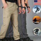 Mens Soldier Tactical Pants Casual Waterproof Pants Combat Outdoor Hiking