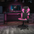 High Back Red/Black Racing Style Ergonomic Gaming Chair with Flip-Up Arms