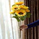 Artificial Sunflower Fake Flowers Bouquet Bride Bunch Garden Plants Home Decor