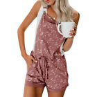 Ladies Floral Loose Shorts Overalls Casual Loose Jumpsuit Mini Playsuit Romper