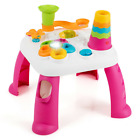 2 in 1 Learning Table Toddler Activity Center Sit to Stand Toys Music Gift Home