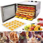 Electric Food Dehydrator Machine Stainless Steel 6 Trays Meat Vegetable Drying