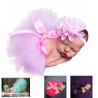 Newborn Baby Girls Photo Photography Prop Tutu Skirt Headband Outfit Clothes Set