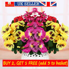Artificial Flower Silk Bouquet Pansy Flower Wedding Home Room Bedding Decor
