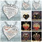 My Mind Still Talks To You Heart Shape Necklace Pendant Memorial Jewelry Uk