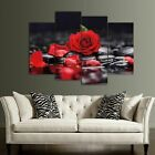 4PCS+Red+Rose+White+Lotus+Canvas+Painting+Poster+Modern+Art+Living+Room+Decors