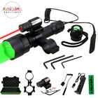 Red/Green/White LED Flashlight Red Dot Laser Sight  Combo Hunting Rail Mount