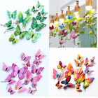 12pcs 3d Butterfly Wall Stickers Colorful Art Decal Home Room Decorations Decor