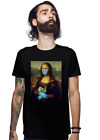Mona Lisa 2020 With Protect Mask Gloves Soap Funny Fan Art Black T-Shirt S-5XL