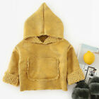 Kid's Outerwear Hooded Solid Color Clothing Windproof Coat Thicken Long Sleeve