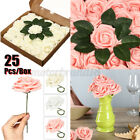 25pcs Artificial Flowers Roses Real Touch Foam Decoration Blush DIY