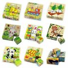 Children Cartoon Puzzle Blocks Colorful Educational Wooden Kids Toy XMAS  NEW