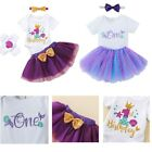 Baby Girls Romper Skirt Headband Sleeves Short Sleeve Letter Print Kids Outfits