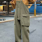 Men Overalls Dungarees Jumpsuit Work Pants Pocketed Strappy Casual Retro Unisex