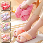 1Pair Indoor Shoes Home Slippers Soft Bottom Tie Dye Color Non-slips Fur Plush