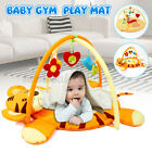 Baby Nursery Play Mat Rug Toddler Infant Lay With Fun Cartoon Hanging Toy