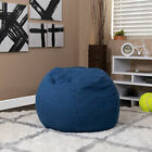 Small Light Pink Dot Refillable Bean Bag Chair for Kids and Teens