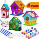 DIY Bird House Kit, - 4Pack - Crafts for Children to Build and Paint Bird photo