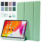For iPad 8th 7th Generation 10.2' Leather Case Pen Holder Auto Sleep/Wake Cover