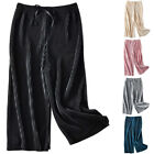 Children Kids Girls Bandage Wide Leg Trousers Holiday Baggy Casual Pants Bottom