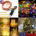 US LED Copper Wire String Light Fairy Light Waterproof Indoor Outdoor Home Decor