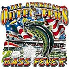 "Dixie Rebel American Fishing ""BASS FEVER"" 50/50 Gildan/Jerzees T SHIRT"