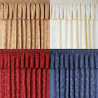 LANA DAMASK CURTAIN PELMETS IN 4 COLOURS
