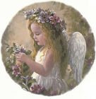 Ceramic Decals Little Angel Girl Floral Scene