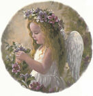 Ceramic Decals Little Angel Girl Floral Scene image