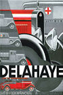 DELAHAYE FRANCE CAR MUNICIPAL SERVICES FRENCH VINTAGE POSTER REPRO