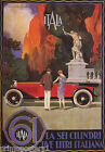 ITALA TIPO 61 AUTOMOBILE COUPLE'S RED CAR  ITALIAN VINTAGE POSTER REPRO